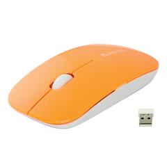 Мышь беспроводная DEFENDER NetSprinter MM-545, 2 кнопки + 1 колесо-кнопка, оптическая, бело-оранжевая