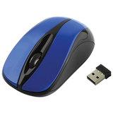 Мышь беспроводная GEMBIRD MUSW-325, 2 кнопки + 1 колесо-кнопка, оптическая, синяя