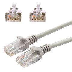 Кабель (патчкорд) UTP 5e категория, RJ-45, 1 м, CABLEXPERT, для подключения по локальной сети LAN