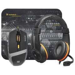 Набор игровой DEFENDER Warhead MPH-1600, мышь 5 кнопок + 1 колесо, гарнитура 2,5 м, коврик для мыши, черный