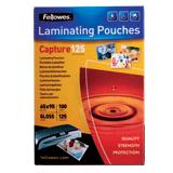 Пленки-заготовки для ламинирования FELLOWES, комплект 100 шт., 65×95 мм, 125 мкм