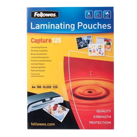 Пленки-заготовки для ламинирования FELLOWES, комплект 100 шт., для формата А4, 125 мкм