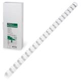 Пружины пластиковые для переплета FELLOWES, комплект 100 шт., 10 мм, для сшивания 41-55 л., белые