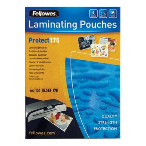 Пленки-заготовки для ламинирования FELLOWES, комплект 100 шт., для формата А4, 175 мкм