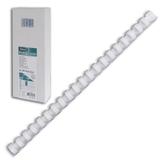 Пружины пластиковые для переплета FELLOWES, комплект 100 шт., 12 мм, для сшивания 56-80 л., белые