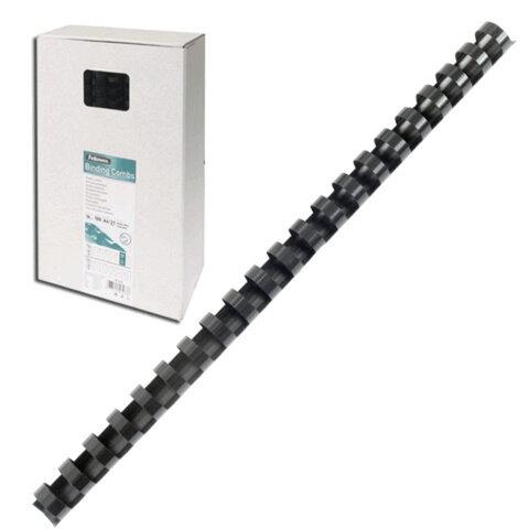 Пружины пластиковые для переплета FELLOWES, комплект 100 шт., 12 мм, для сшивания 56-80 л., черные