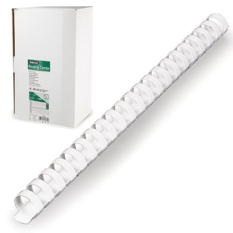 Пружины пластиковые для переплета FELLOWES, комплект 100 шт., 19 мм, для сшивания 121-150 л., белые