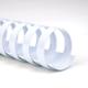 Пружины пластиковые для переплета GBC (ДжиБиСи, Англия), комплект 100 шт., 10 мм, на 46-65 л., белые