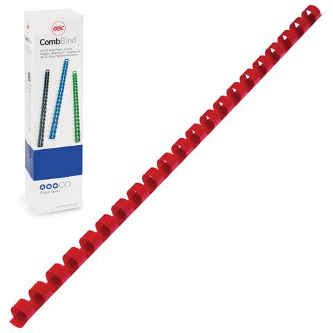 Пружины пластиковые для переплета GBC (ДжиБиСи, Англия), комплект 100 шт., 10 мм, на 46-65 л.