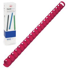 Пружины пластиковые для переплета GBC (Англия), комплект 100 шт., 14 мм, на 96-125 л., красные