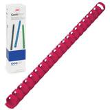 Пружины пластиковые для переплета GBC (ДжиБиСи, Англия), комплект 100 шт., 14 мм, на 96-125 л., красные