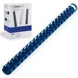 Пружины пластиковые для переплета GBC (ДжиБиСи, Англия), комплект 100 шт., 19 мм, на 146-165 л., синие