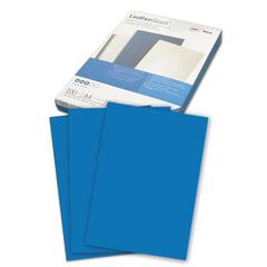 Обложки для переплета GBC (Англия), комплект 100 шт., LeatherGrain (тиснение под кожу), A4, синие