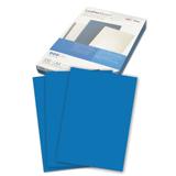 Обложки для переплета GBC (ДжиБиСи), комплект 100 шт., LeatherGrain (тиснение под кожу), A4, синие