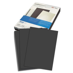 Обложки для переплета GBC (Англия), комплект 100 шт., LeatherGrain (тиснение под кожу), A4, картон, черные