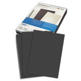 Обложки для переплета GBC (ДжиБиСи), комплект 100 шт., LeatherGrain (тиснение под кожу), A4, картон, черные