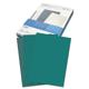 Обложки для переплета GBC (ДжиБиСи), комплект 100 шт., LeatherGrain (тиснение под кожу), A4, картон, зеленые
