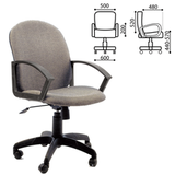 Кресло оператора «Компакт», СН 681, с подлокотниками, серое