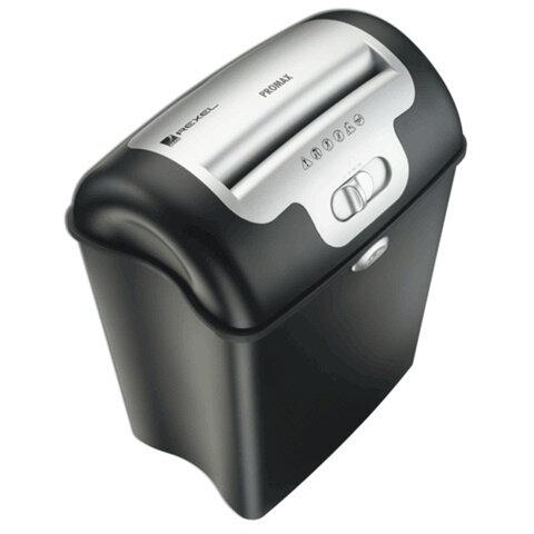 Уничтожитель (шредер) REXEL V65WS, для 1-3 чел., бесшумный, 4 уровень секрет., фрагм. 4×35 мм, 5 л., 23 л, скобы, скрепки, карты