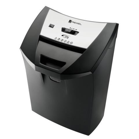 Уничтожитель (шредер) REXEL DELUXE SC170, для 1 человека, 2 уровень секретности, 6 мм, 12 листов, 22 л, скобы, карты