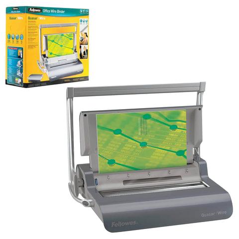 Переплетная машина для металлической пружины FELLOWES QUASAR WIRE, пробивает 15 л., сшивает 130 л.