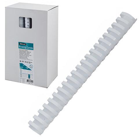 Пружины пластиковые для переплета FELLOWES, комплект 50 шт., 38 мм, для сшивания 281-340 л., белые