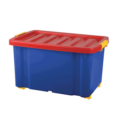 Ящик для хранения игрушек «Jumbo», 60 л, размер 39,3×59,3×33,9 см, на колесах, с крышкой
