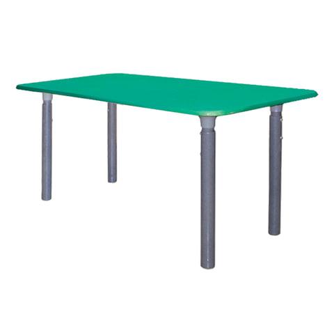 Стол детский, 400(580)х1000×500 мм, регулируемый 0-3 рост, пластиковое покрытие, зеленый, 2 коробки