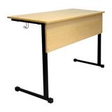 Стол-парта ученическая 2-местная нерегулируемая, 760×1200×500 мм, рост 6, цвет «бук»