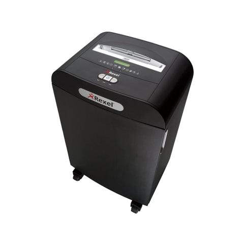 Уничтожитель (шредер) REXEL RDX1850, для 10-15 человек, 3 уровень секретности, 4×45 мм, 18 листов, 50 л, скобы, скрепки, карты, CD