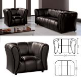 Кресло «Ригель», 705×980×860 мм, c подлокотниками, экокожа, черное