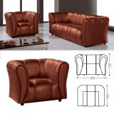 Кресло «Ригель», 705×980×860 мм, c подлокотниками, экокожа, коричневое