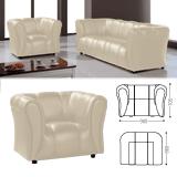 Кресло «Ригель», 705×980×860 мм, c подлокотниками, экокожа, бежевый