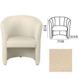 Кресло «Club», 814×708×658 мм, c подлокотниками, кожзам, бежевое