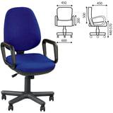 Кресло оператора «Comfort GTP», с подлокотниками, синее