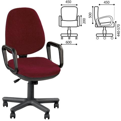 Кресло оператора «Comfort GTP», с подлокотниками, бордовое