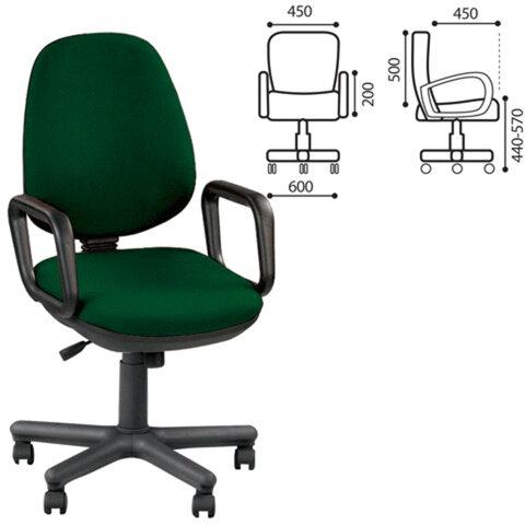 Кресло оператора «Comfort GTP», с подлокотниками, зеленое