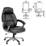Кресло офисное «Формула», СН 436, кожа, черное