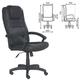 Кресло офисное «Лагуна», T-9906AXSN, кожа, черное
