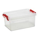Ящик для хранения универсальный, 25 л, крышка на защелках, 24×48,4×32 см, прозрачный