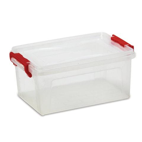 Ящик 25 л, с крышкой на защелках, для хранения, 24×48×32 см, пластиковый, прозрачный, IDEA