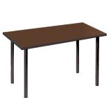 Стол для столовых, кафе, дома «Статус», 1150×720×735 мм, черный каркас, пластик темное дерево