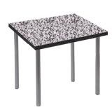 Стол для столовых, кафе, дома «Стиль», 720×720×735 мм, серебристый каркас, пластик мраморная крош.
