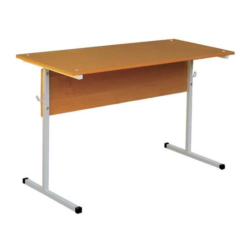 Стол парта 2-местная нерегулируемая, 750×1200×500 мм, рост 6, серый каркас, ЛДСП бук
