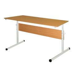 Стол-парта 2-местный, регулируемый, 1200×500×640-760 мм, рост 4-6, серый каркас, ЛДСП бук, Ш-304 (4-6)