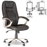 Кресло офисное «Forsage», экокожа, черное