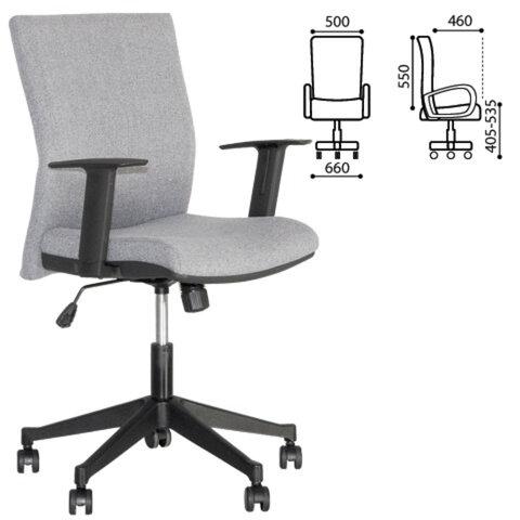 Кресло оператора «Cubic GTR», с подлокотниками, серое