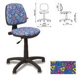 Кресло детское «Swift GTS», без подлокотников, синее с рисунком