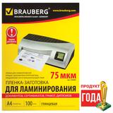 ������-��������� ��� ������������� BRAUBERG (��������), �������� 100 ��., ��� ������� �4, 75 ���