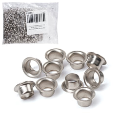 Люверсы гальванированные, комплект 1000 шт., внутренний диаметр 4 мм, цвет серебристый